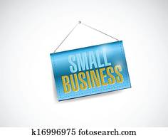 small business hanging banner illustration