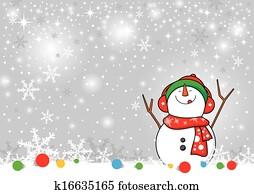 Snowman design for christmas backgr