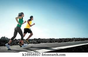 sport people running outdoor
