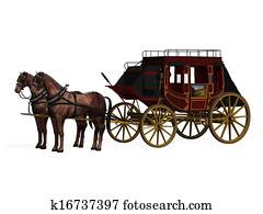 Stagecoach with Horses