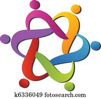 team, helfende, logo