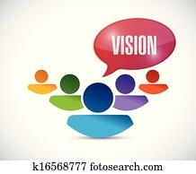 teamwork vision illustration design