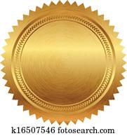 Vector illustration of gold seal
