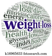 Weight loss concept in tag cloudcloud