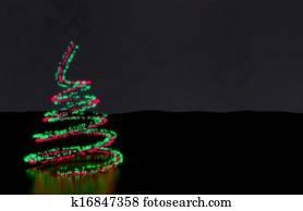 weihnachtsbaum gemacht of metall spiralen und rot. Black Bedroom Furniture Sets. Home Design Ideas