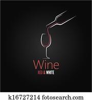 wine glass concept menu design