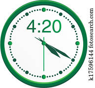 420, uhr
