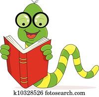 Bücherwurm clipart  Bücherwurm Clipart Illustrationen. 619 bücherwurm Clip Art Vektor ...