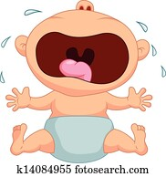 Baby boy cartoon crying