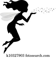 Beautiful love fairy sanding blowin