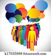begriff, vektor, -, firma, angestellte, wechselwirkung, &, kommunikation