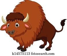 Bison cartoon