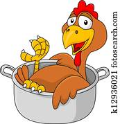 Chicken in the saucepan