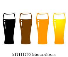 colorful beer glass