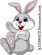 Cute rabbit bunny sitting