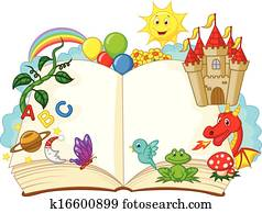 Fantasy book cartoon