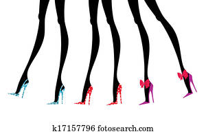 Fashion Legs in Colorful Shoes