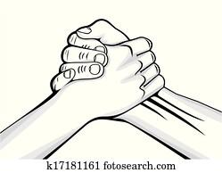 handshake two male hands