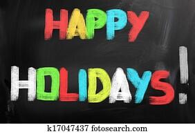 Happy Holidays Concept