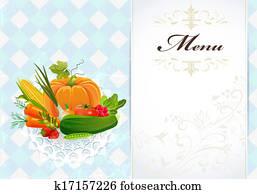 healthy food recipe card