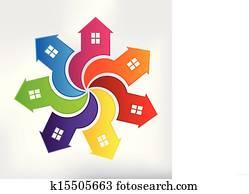 Houses Modern Logo