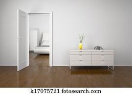 Interior with open door