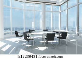 Modern office with many windows