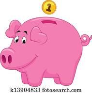 Piggy bank cartoon