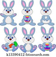 Rabbit carton set