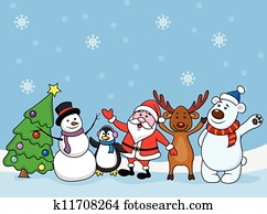 Santa clause with friend