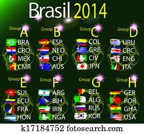 team groups brasil 2014 cup