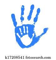 vater sohn, handprints