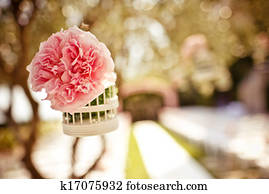 Wedding floral decoration on the tree