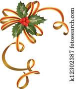 weihnachten, stechpalme