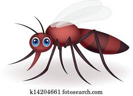 Cartone animato zanna insetto zanzara cartoni animati