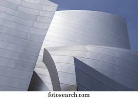 Curves and contours of the Walt Disney Concert Hall; Los Angeles, California, United States of America