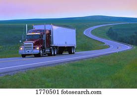 Semi truck on the open road