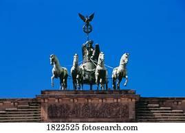 quadriga, von, sieg, oben, dass, brandenburger tor, berlin, deutschland