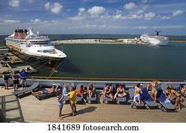 Disney Cruise Ship; Cocoa Beach, Florida, Usa