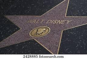 Walt Disney Star, walk of fame; Los Angeles, California, United States