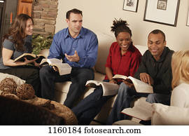 Bible study discussion in progress