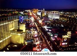 Las Vegas, Nevada, USA, the Las Vegas strip at night
