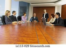 Businesspeople in boardroom