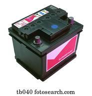 Photograph of a car battery