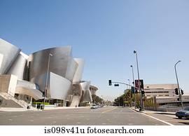 Downtown LA looking towards Disney Concert Hall, Los Angeles County, California, USA