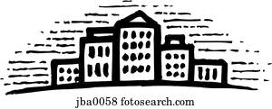 Stock Illustration Of Two Story House B Amp W Jba0048 Search