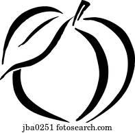 smooth peach b&w