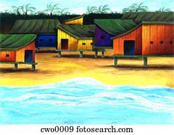beach hut in thailand
