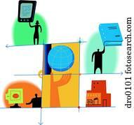 Diagram depicting Publishing in new media