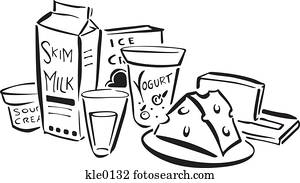 Stock Illustration of A drawing of a jar of creamer in ...